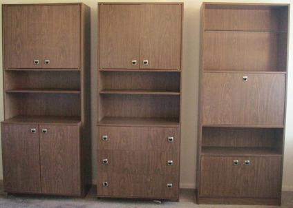 "3 Piece Wall Unit 72 Tall"" X 30"" Wide Good condition"
