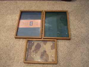 3 shadow boxes 168th  blondo