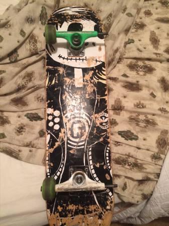 3 skateboard decks and misc skate stuff
