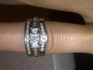 3 Stone Wedding Ring w Wedding Band - $1300 Fairbanks