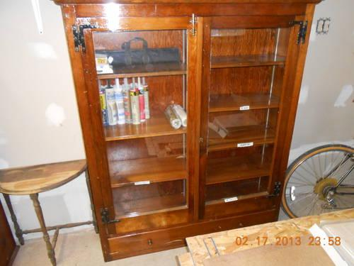 (3) Storage Cabinets And (1) Gun Cabinet; Pine; To Be Sold