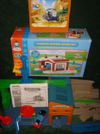 3 Thomas The Train Sets With Extras Rare Fix  Spin Set - $125