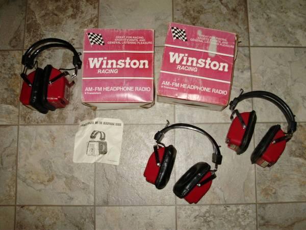 3 Vintage Winston Cup RacingNascar AMFM Headphone Transistor Radios - $30