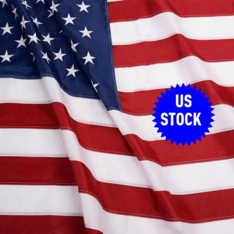 3'x5'FT USA US American Embroidered Flag Sewn Stripes