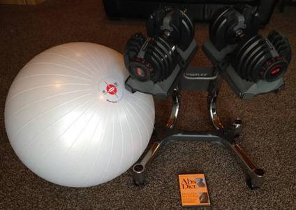 $300 Bowflex SelectTech Dumbbells, Stand, Workout Ball, Abs Diet Workout 2