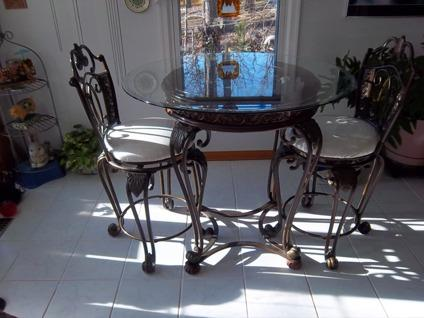 $300 OBO Dining Pub Set Glass Top By Ashley