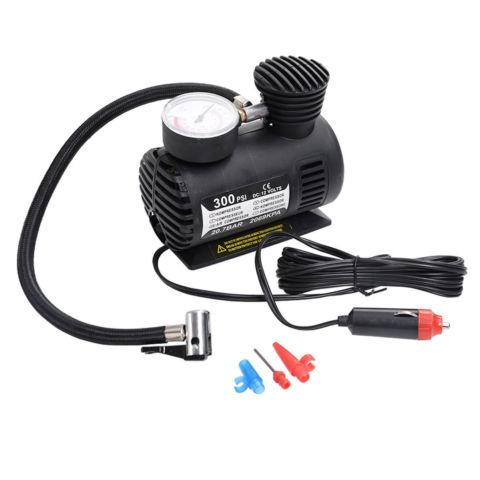 300 PSI Auto Portable Pump Tire Inflator Mini Air Compressor
