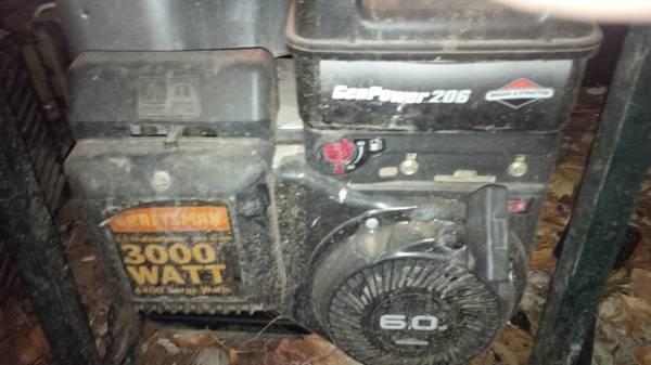3000 watt generator - $300