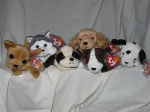 24cfb259383 Ty Beanie Babies Set of 6 Dogs Spunky Nanook Bernie Dotty Tiny Bruno ...