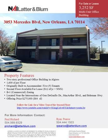 3252ft² - Algiers Office Space For Sale & Lease