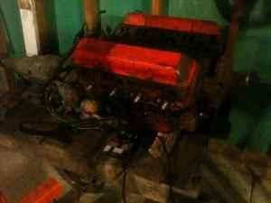 327 small block chevy engine / trans - $200 (Roscoe)