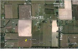 33 acres Pasture or Crawfish land (Indian Bayou) (map)
