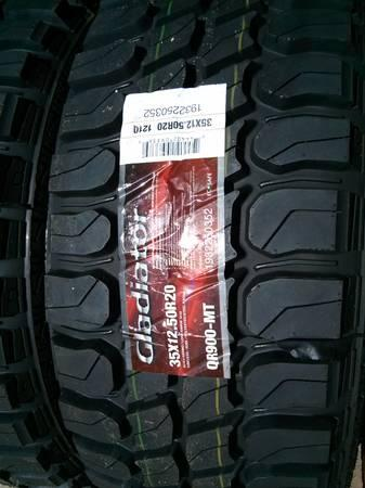35/12.50/20 Gladiator M/T 4 new Tires - $900