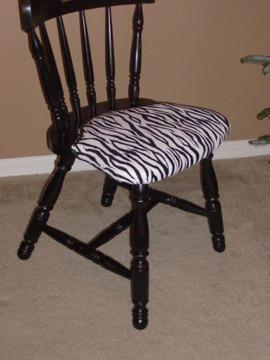 $35 Distressed Wooden Zebra Chair