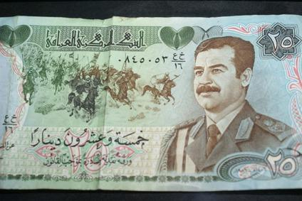 $35 World currency notes from England & Iraq