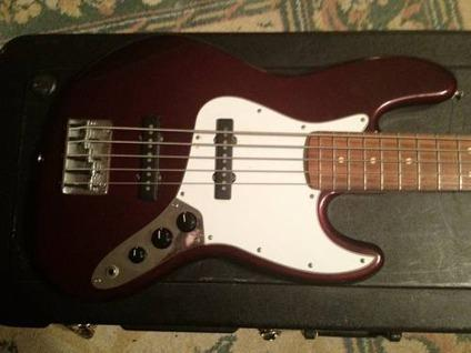fender m i m 5 string jazz bass wine red w case obo for sale in porter texas classified. Black Bedroom Furniture Sets. Home Design Ideas