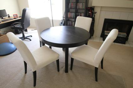 Charmant $350 OBO Ikea Bjursta DINING TABLE With Four White