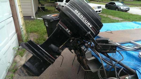 35hp mercury outboard motor with throttle control box