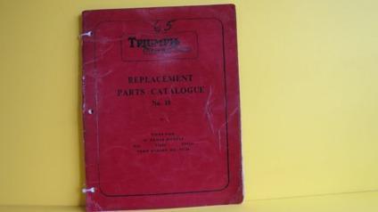 $36, 1965 Triumph Tiger Cub Replacement Parts Catalog OEM#10