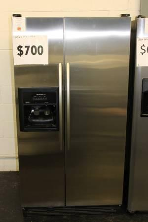 36 KitchenAid Stainless Side by Side Refrigerator 12 month Warranty - - $700