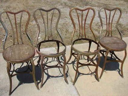 $375 4 Early 1900s Soda Fountain or Ice Cream Parlor Chairs.