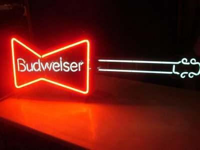 Budweiser Neon Guitar Light For Sale In Ware Massachusetts Classified Americanlisted Com