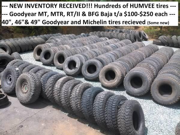 37x12 50x16 5 Goodyear Military Surplus Tires & wheels - $150