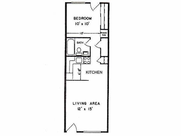 1br 456ft 1 Bedroom Spacious Apartment For Rent In