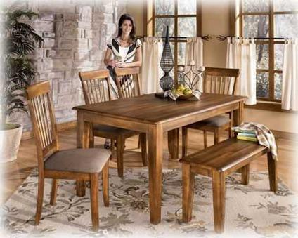 NEW SOLID WOOD DINING SET by ASHLEY HOME FURNISHINGS for