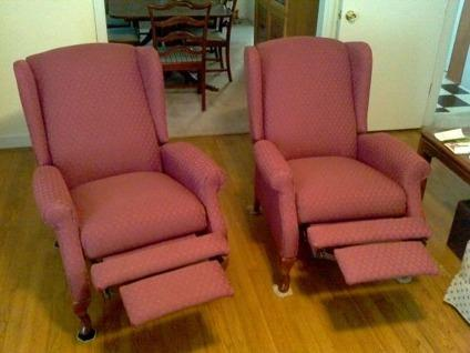 2 La Z Boy Kimberly High Leg Wing Back Recliners Only For
