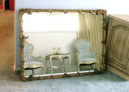 $395 Vintage Wall MIRROR Carved Gold Gilt Frame