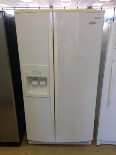 25 Cu Ft White Whirlpool Side By Side Refrigerator I268
