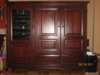 Solid Cherry Entertainment Center For Sale In Mount Kisco