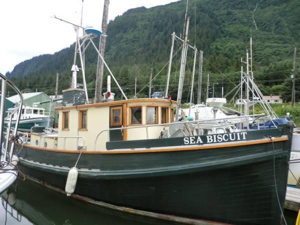 39ft double ender troller for sale in juneau alaska for Alaska fishing boats for sale
