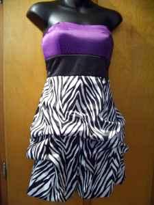 Purple Prom Dress on Wishes Purple Zebra Princess Strapless Homecoming Prom Dress   Sz 5