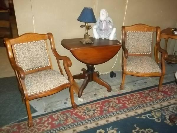 3pc oak victorian claw foot parlor set for sale in mount morris