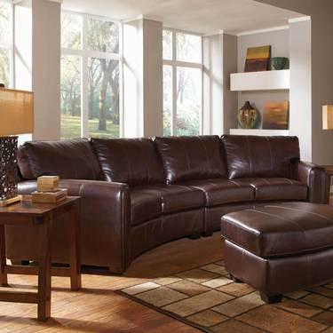 3Pcs Espresso Leather Sectional Sofa Set Only for Sale in ...