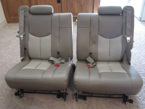 3rd third row tan leather seats for yukon tahoe denali escalade for sale in wichita kansas. Black Bedroom Furniture Sets. Home Design Ideas