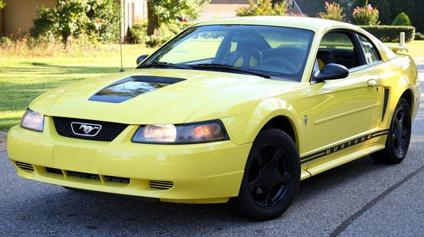 2002 black yellow ford mustang v6 clean for sale in. Black Bedroom Furniture Sets. Home Design Ideas