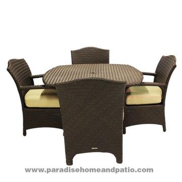 Obo Brown Jordan Outdoor Wicker Furniture 5 Piece Dining