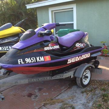 $4,000 OBO, pair of seadoo's with double trailer