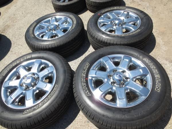 4 18 FORD F150 EXPEDITION CHROME 18 OEM WHEELS AND TIRES MICHELIN - $1200