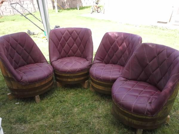 4 1950 S Wine Barrel Keg Lounge Club Chairs For Sale In
