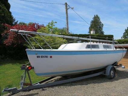 $4,785, Aquarius 23 Sailboat (swing keel) on Trailer  Both Well Maintained