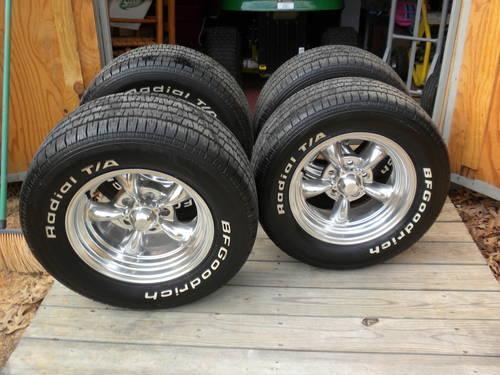 4 B F Goodrich ta radials,with american racing wheels