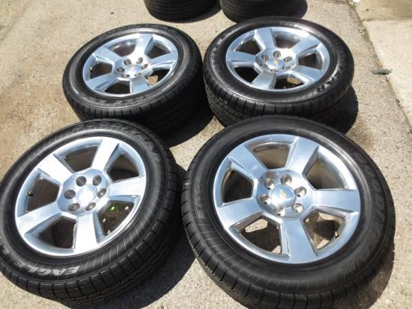 4 CHEVY SILVERADO TAHOE SUBURBAN 20 POLISHED OEM WHEELS AND TIRES - $1500