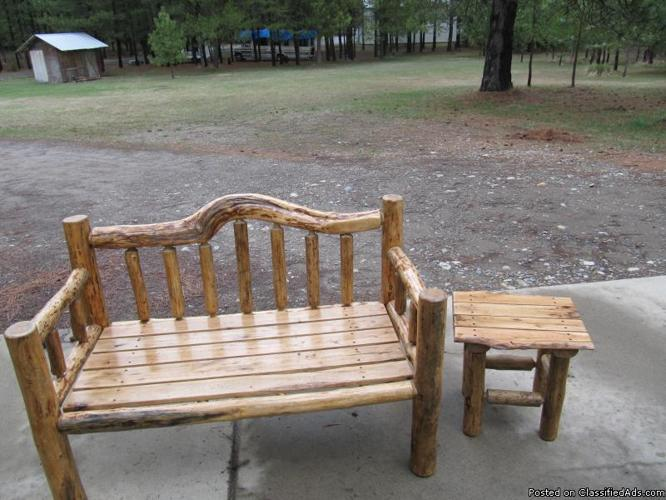 4 Ft Log Bench W Knotty Scrub Oak Seat For Sale In Athol Idaho Classified