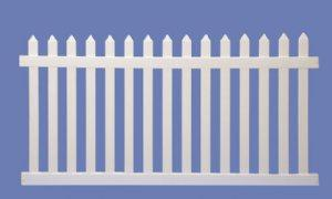 4 ft tall x 73 ft long - Picket Fence - Beige - Vinyl
