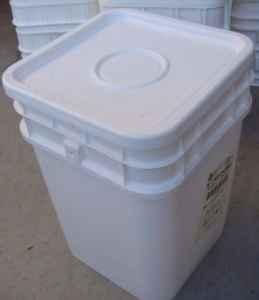 4 Gallon Square Food Storage Buckets Food Grade Utah