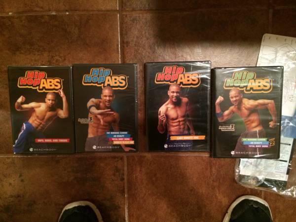 4 Hip Hop Abs DVDs - $15